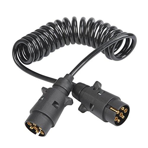 QLOUNI Remolque Conector Enchufe Impermeabilidad TPU Gancho Remolque 2.5M Cable de Extensión...