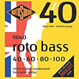 Rotosound Roto Bass Jeu de cordes pour basse Nickel Filet rond Tirant medium (40 60 80 100)