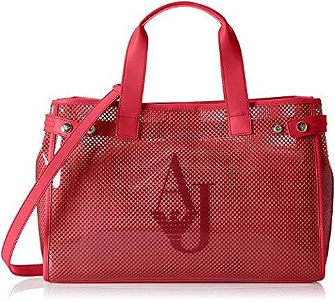 Armani Jeans 9225917p780, Sac porté main femme - rouge - Rot (PERSIAN RED 07676), 13x27x41 cm (B x H x T)