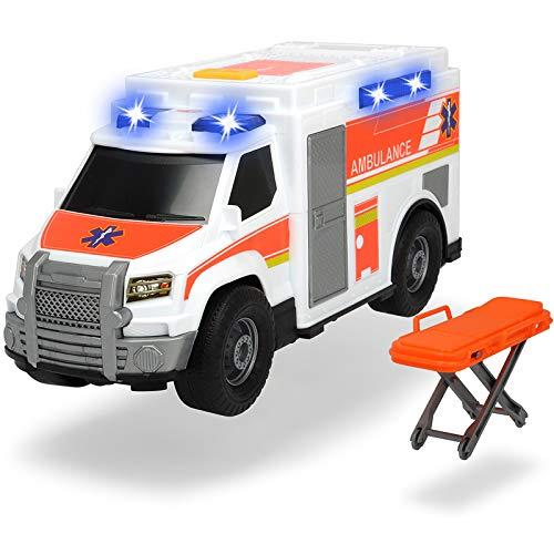 #1018 Krankenwagen inklusive Trage-Griff mit Licht und Sound • Ambulance Rettungswagen Kinder Spielzeug Auto Einsatzfahrzeug