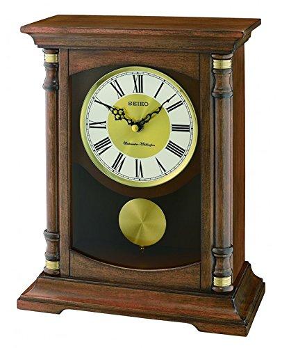 Seiko Eiche massiv Mantel Pendel Uhr mit Westminister und Whittington Chimes qxq034b