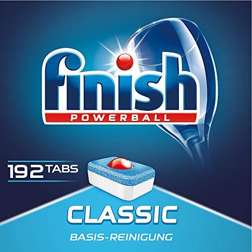 Finish Classic Spülmaschinentabs, Geschirrspültabs für Basis Reinigung, Quartalspack für 3 Monate, Geschirrspülmittel Tabs, Gigapack, 192 Tabs