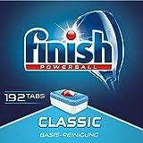 Finish Classic Quartalspack, Spülmaschinentabs für 3 Monate, Gigapack, 1er Pack (1 x 192 Tabs)