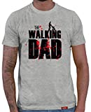 HARIZ  Herren T-Shirt Papa Collection 36 Designs Wählbar Grau Urkunde Papa01 The Walking Dad XL