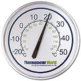 Garten-Thermometer, groß, 300mm, für Innen- oder Außenbereich, für Wand, Hausdekoration, Garten, Patio, Gewächshaus, Büro oder Garage