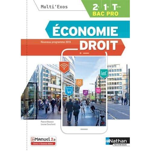 Economie-Droit - 2de/1re/Tle Bac Pro