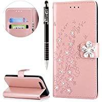 Huawei Honor 9 Hülle,SainCat Retro Schön 3D Pflaumenblüte Blumen Muster Ledertasche Handyhülle Brieftasche im... preisvergleich bei billige-tabletten.eu
