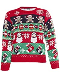 970471c9dd268 NOROZE Garçons Fille Unisexe Noël 3D Pull Enfants Xams Pullover Pull-Over  Père Noël Bonhomme
