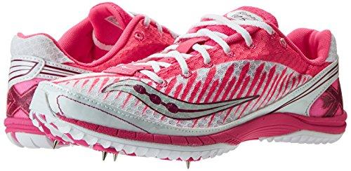 Saucony, Scarpe da corsa donna White/Vizi Pink