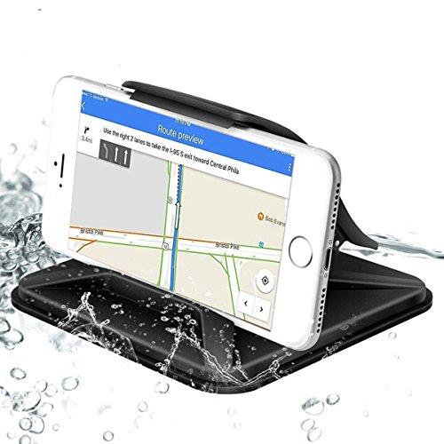 Acslam Handyhalterung Auto Armaturenbrett Handyhalter Kfz Handy Halterung Universal Anti-Rutsch Matte Halter für 3.5-7 Zoll Handy oder GPS-Gerät (Schwarz)