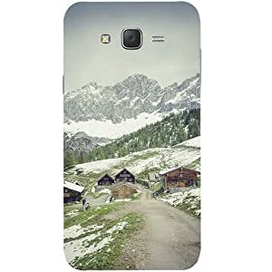 Casotec Nature Design Hard Back Case Cover for Samsung Galaxy J7