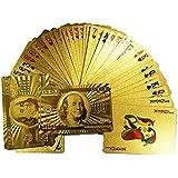 Gold Cards - 191388552363 - Cartes de Jeux Poker, Or