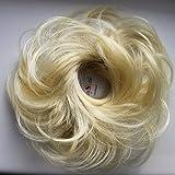 PRETTYSHOP Haargummi Haarteil hairpiece Haarverdichtung Zopf Haarband Haarschmuck blond