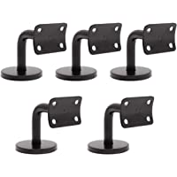 Topicks Lot de 5 supports de rampe descalier en acier inoxydable 201 Noir