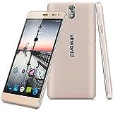 "VKWorld G1 - 4G LTE Smartphone Libre Multitáctil Android 5.1 (Pantalla IPS 5.5"", 1.3GHz MT6753 Octa Core, 3GB RAM 16GB ROM, 13.0MP Cámara, OTG, GPS, WIFI, Smart Wake, Dual SIM) (Dorado)"
