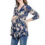 Umstandsmode Damen Umstandskleiden Stillkleid Mode Blume Kleiden Schwangerschaft Loose Kleid Schwarz Blau Rosa.