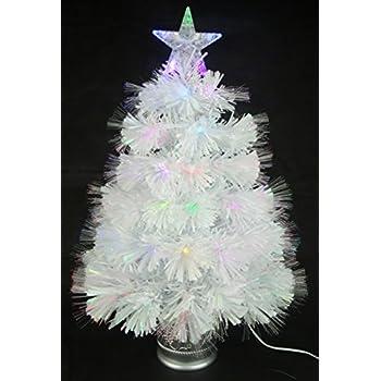 2ft White Fibre Optic Christmas Tree