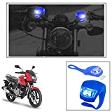 #9: Vheelocityin 2+2 Led Blue Bike Light with Flashing Mode Motorcycle LED For Bajaj Pulsar 150