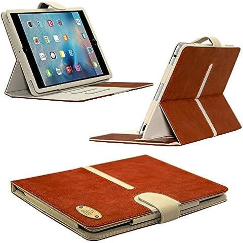 Apple iPad Pro 9.7Funda de piel de ante hebilla desmontable by Gorilla Tech® Junta Ante Funda de piel con función atril y ranuras para tarjetas para Apple iPad Pro de 9,7