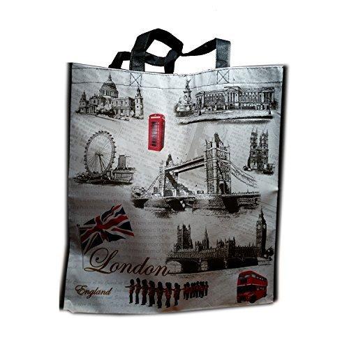 Graphic London Icons Carry Bag / Tote Bag Souvenir! Shopping bag, reusable Souvenir / Speicher / Memoria! Stunning London Carry Bag / Tote Bag! Collectible and Fun! Fourre-Tout / Tragetasche / Bolso de Mano!