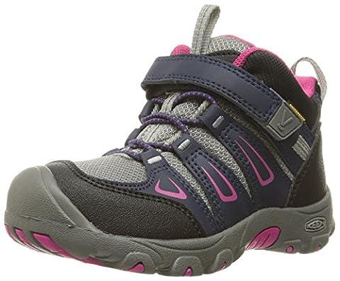 Keen Unisex Kids' Oakridge Mid Wp High Rise Hiking Boots, Blue (Dress Blues/Very Berry), 8