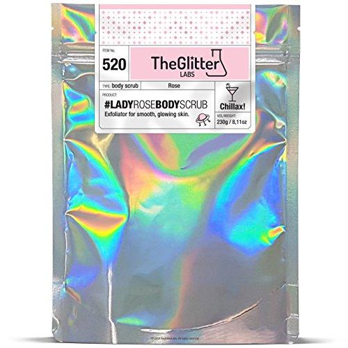 Lady Rose Body Scrub | TheGlitterLabs : Körperpeeling, Zucker-Salz-Peeling, Sugar-Salt-Scrub, 230 g