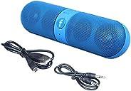 مكبر صوت بلوتوث بتصميم كبسولة متوافق مع جميع الهواتف الذكية والاجهزة اللوحية - ازرق