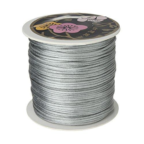 Angel Malone® 10m x 1mm Qualität Silber Rattail Satin Schnur–GR84Kumihimo–17Farben Schmuckherstellung Ergebnisse–UK Verkäufer (Rattail Schnur)