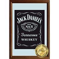 Empire Merchandising 610751Logo Jack Daniels, Specchio con cornice in legno, 22x 32x 1,2cm