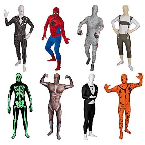 Funsuits completo originale costume intero funsuit tuta per travestimento - zucca - taglia s / m / l / xl / xxl [s] - molti disegni