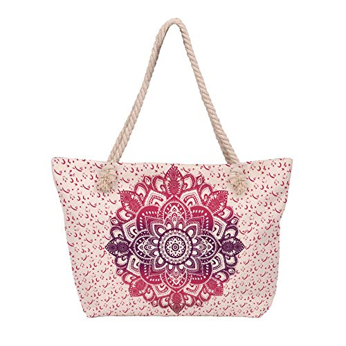 zhenyifan996 Canvas Bag Mandala Series Beach Tasche Outsourcing Einschulter-tasche Mode-druck Umwelttasche Reisetasche DJB-223 -