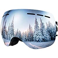 BFULL Men,Women and Kids OTG Ski Goggles, Anti-fog, Windproof, 100% UV400 UV Protection, Anti-glare Ski Goggles, Suitable for Skiing, Snowboarding, Snowmobiling and Other Winter Sports