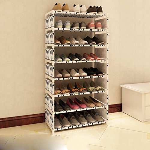 Pliable Boîte À Chaussures Organisateur Hight Qualité De Stockage Titulaire Stackable Shoe Stretchers pour Femmes 8 Rangée pour 24 Paires De Chaussures (Couleur : Blanc)