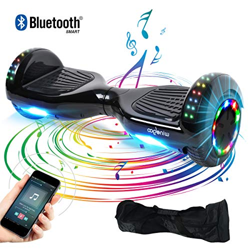"BEBK Hoverboard, 6.5"" Self Balance Scooter mit Bluetooth Lautsprecher, 2 * 350W Motor, LED Lights, Elektro Scooter (LED-Black)"