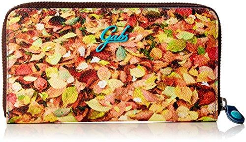 GABS - Gmon17, Portafogli Donna Multicolore (Foglie)