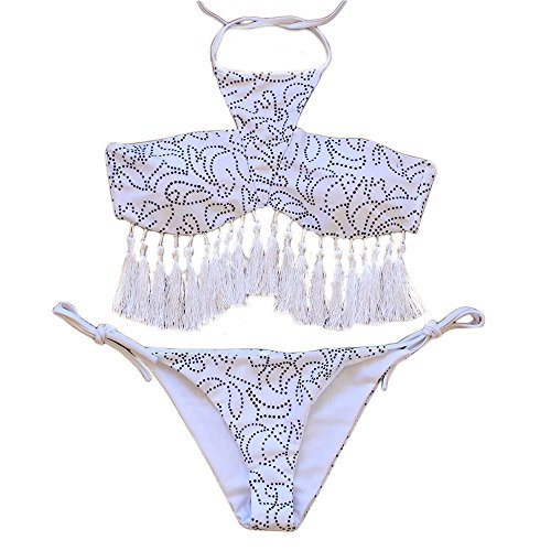 YaoDgFa Strand Damen Bikini Set Bademode Badeanzüge Bikinis für Frauen  Mädchen Bandeau Push Up Neckholder Racerback