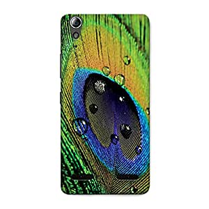CrazyInk Premium 3D Back Cover for Lenovo A6000 Plus - PEACOCK FEATHER