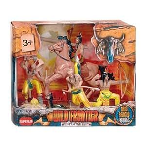 WDK PARTNER - A0701975 - Figurines - Coffret CowBoy ou Indiens - Modèle aléatoire