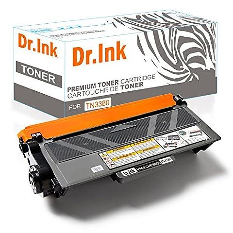 Dr.Ink Toner kompatibel zu TN-3380 für Brother HL-5450, DCP-8100 Series, HL-5400 Series, HL-6100 Series, MFC-8510DN, MFC_8710DW, MFC-8950DW - TN3380 - Schwarz 8.000 Seiten
