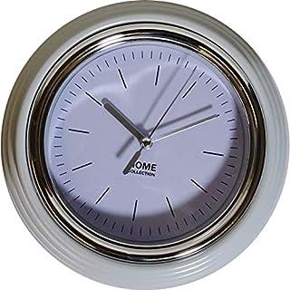 ArtiCasa Wanduhr Home 19,5cm Bahnhofsuhr Büro Uhr Retro Küchenuhr analog weißes Ziffernblatt