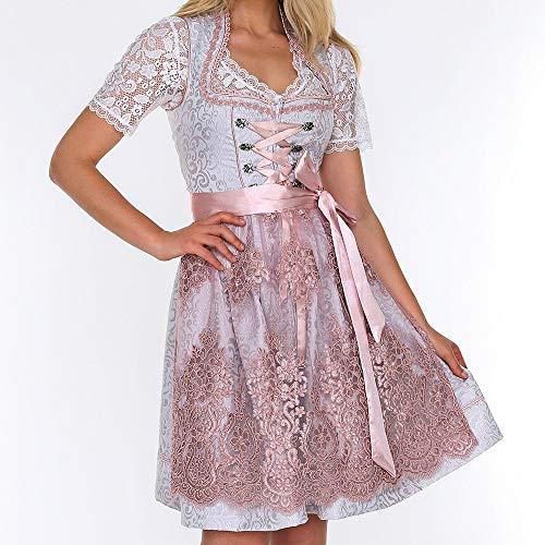 Kostüm Exklusiv - wenyujh Damen Trachten-Kleid Dirndl Midi für