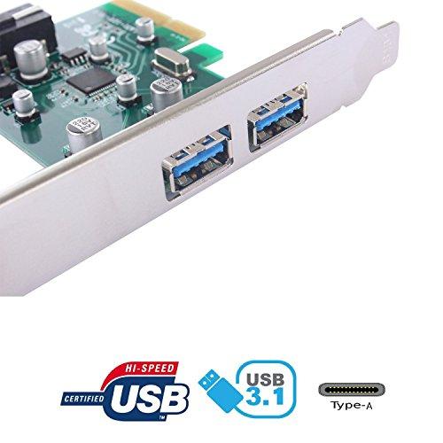 tinxi® Scheda di Espansione di USB 3.1/Type
