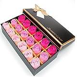 FunRun 18 Pezzi profumato per il bagno petali rosa, Creativo regalo Fiore del sapone artificiali...
