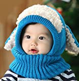 Swallowuk Winter Baby Kinder Jungen Mädchen Schal Kapuze Hüte Caps (blau)