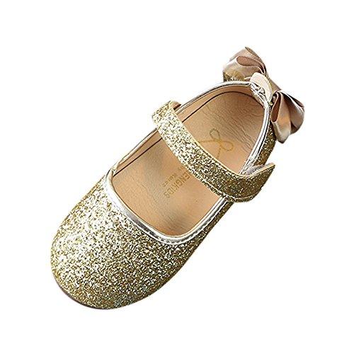 Zapatos de Baile Niña K-youth Zapatos Bebe Niña con Suela Primeros Pasos Bautizo Verano Lentejuelas...