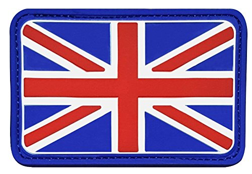 Colored UK Flag PVC Rubber 3D Velcro Tactical Patch by Seibertron
