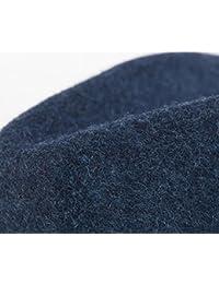 DIMDIM mychome Retro 100% aus Wolle Hat Damen Herren Fedora Hat für Elegant Lady Trilby Kirche Cloche Chapeau Femme Top Cap mit Fashion Kette, Blau, 57-58cm