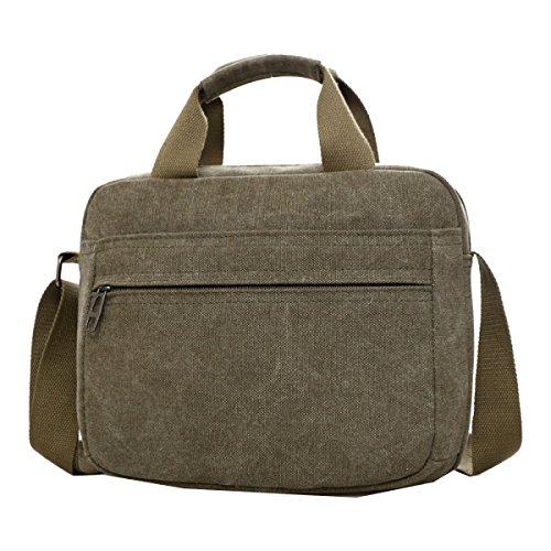 Yy.f Nuovi Uomini Mobile Messenger Bag Big Bags Computer Tascabile Gli Uomini Devono Viaggiare Bag Borsa Di Tela Sacchetto Solido Multicolore Green