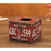 Dxtxx Household multi-purpose tissue box napkin tray, European leather waterproof tissue box,NewYork