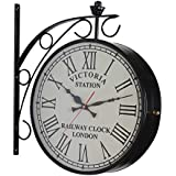 N H Items Wall Clock With Black Matt Finish With 2 AA Battery {Black 12 Inches}
